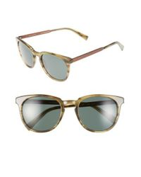 Ted Baker - Brown 53mm Round Sunglasses for Men - Lyst