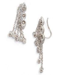 Luv Aj - Metallic Poise Dangle Crawler Earrings - Lyst