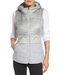 The North Face | Gray 'pseudio' Quilted Vest | Lyst