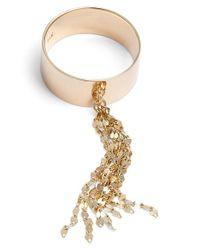 Lana Jewelry | Metallic Small Tassel Ring | Lyst