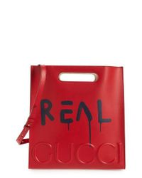 Gucci - Red Ghost Leather Tote - Lyst