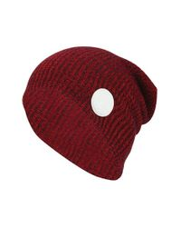 Converse | Red 'winter Slouch' Knit Cap for Men | Lyst