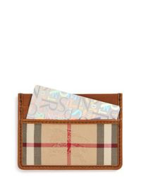Burberry Brown Horseferry Check Leather Cardholder for men