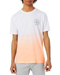 Topman Orange 1979 Print Ombre T-shirt for men