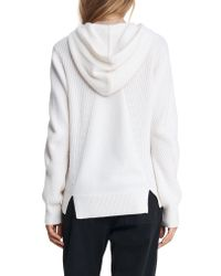 Rag & Bone White Pierce Cashmere Hoodie Relaxed Fit Sweater