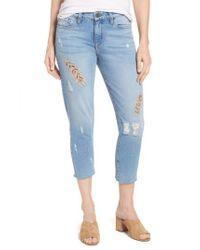 Kut From The Kloth Blue Allie Crop Boyfriend Jeans