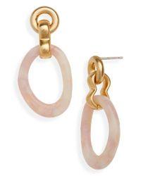 Madewell - Metallic Acrylic Link Earrings - Lyst