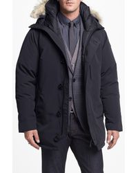 Canada Goose Gray 'chateau' Slim Fit Genuine Coyote Fur Trim Jacket for men