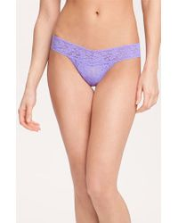 Hanky Panky | Purple 'signature Lace' Low Rise Thong | Lyst