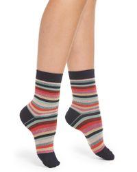 Paul Smith - Multicolor Clarissa Swirl Stripe Crew Socks - Lyst