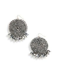 Panacea - Metallic Beaded Drop Earrings - Lyst