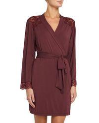 Eberjey | Red Vineland Wine Lila Short Robe | Lyst