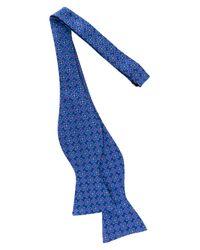 Ted Baker Blue Frame Flower Silk Bow Tie for men