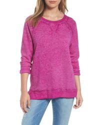 Caslon - Purple Caslon Burnout Sweatshirt - Lyst