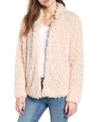 BISHOP AND YOUNG - Natural Bishop + Young Faux Fur Crop Jacket - Lyst