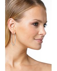 Nadri Metallic Pavé Inside Out Hoop Earrings