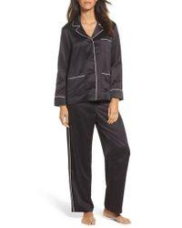 Lauren by Ralph Lauren | Black Sateen Pajamas | Lyst
