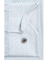 W.r.k. Blue Slim Fit Performance Stretch Paisley Dress Shirt for men