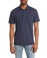 4cc81d04d Lyst - Nordstrom 1901 Space Dyed Pocket Polo in Blue for Men