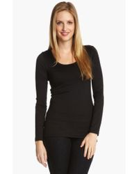Karen Kane Black Supersoft Long Sleeve Tee