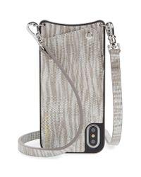Bandolier - Gray Emma Iphone X/xs Crossbody Case - - Lyst