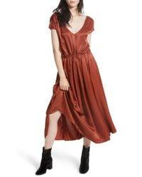 Free People - Red Love & Feeling Maxi Dress - Lyst