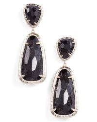 Kendra Scott - Black Daria Drop Earrings - Lyst