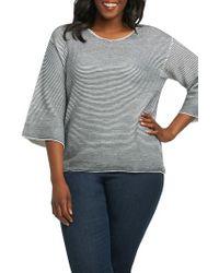 Foxcroft Gray Liya Ottoman Rib Sweater