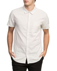 RVCA - White Dips Woven Shirt for Men - Lyst