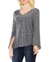 Two By Vince Camuto | Gray Split Cuff Top | Lyst