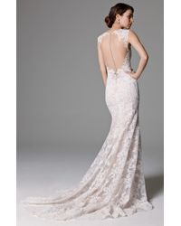 Watters White Ashland Lace Mermaid Gown