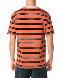Zanerobe Black Triplet Box Fit Stripe T-shirt for men