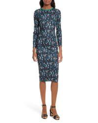Ted Baker - Blue Kielder Print Body-con Dress - Lyst