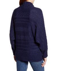 Caslon Blue Caslon Textured Mock Neck Sweater