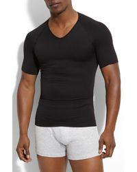 Spanx Black Spanx Zoned Performance V-neck T-shirt for men
