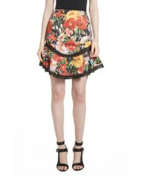Alice + Olivia - Multicolor Floral Skirt - Lyst