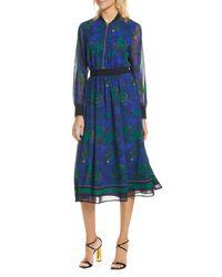 Ted Baker Blue Maesie Stargaze Long Sleeve Dress