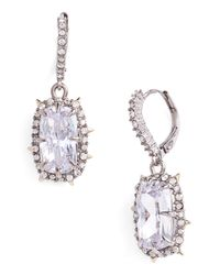 Alexis Bittar Metallic 10k Gold Plated Crystal Lever Back Earrings