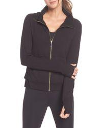 Kate Spade - Gray Fleece Lined Jacket - Lyst