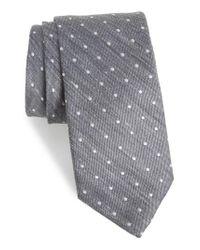 Bonobos - Gray Dot Silk & Linen Tie for Men - Lyst