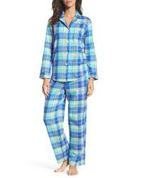Lauren by Ralph Lauren   Blue Notch Collar Pajamas   Lyst