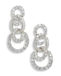 Nina - Metallic 3-tier Swirl Drop Earrings - Lyst