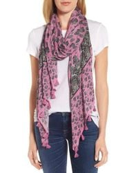 Rebecca Minkoff - Pink Lotus Paisley Oblong Scarf - Lyst
