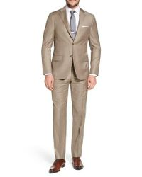 Hickey Freeman Natural Classic B Fit Solid Wool Suit for men