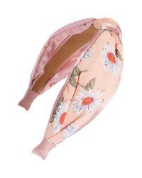 Tasha Pink Floral Knotted Headband