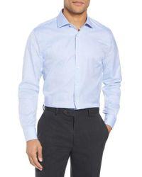 John W. Nordstrom - Blue John W. Nordstrom Trim Fit Dot Dress Shirt for Men - Lyst