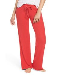 Make + Model - Red Best Boyfriend Brushed Hacci Lounge Pants - Lyst