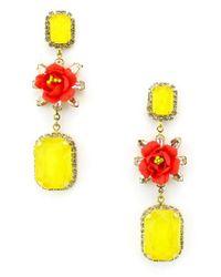 928ffcabebc1e Lyst - Elizabeth Cole Graham Flower Drop Earrings