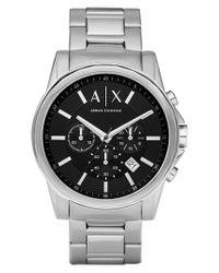 Armani Exchange Metallic Chronograph Bracelet Watch for men