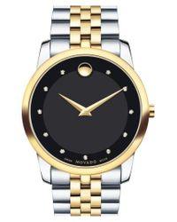 Movado - Metallic 'museum' Bracelet Watch for Men - Lyst